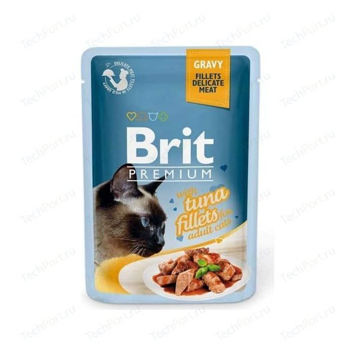 Паучи Brit Premium GRAVY with Tuna Fillets for Adult Cats кусочки в соусе с филе тунца для взрослых кошек 85г (518548)