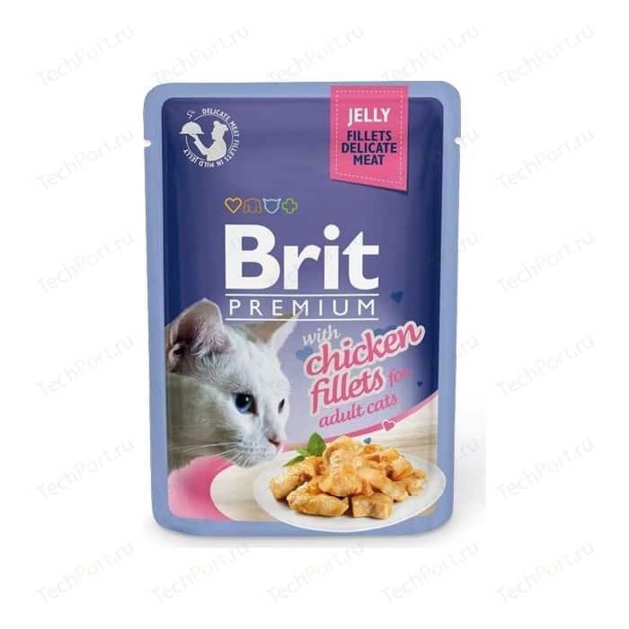 Паучи Brit Premium JELLY with Chicken Fillets for Adult Cats кусочки в желе с куриным филе для взрослых кошек 85г (518463)