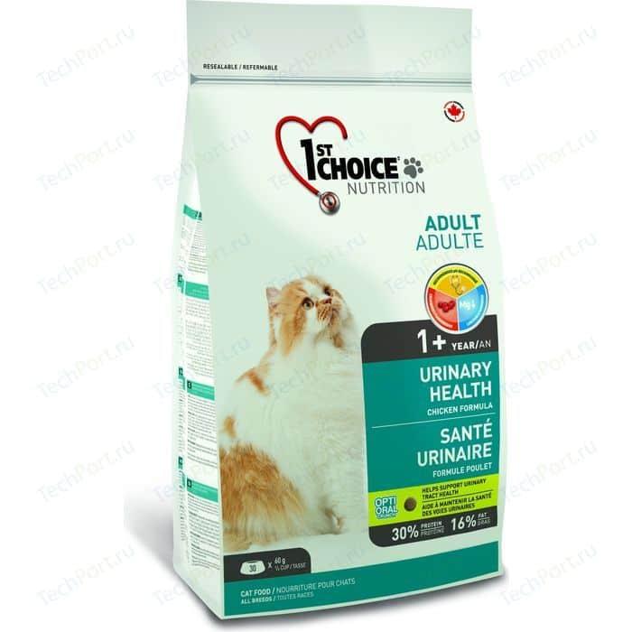 Сухой корм 1-ST CHOICE Adult Cat Urinary Health Chicken Formula с курицей профилактика МКБ для кошек 1,8кг (102.1.291)