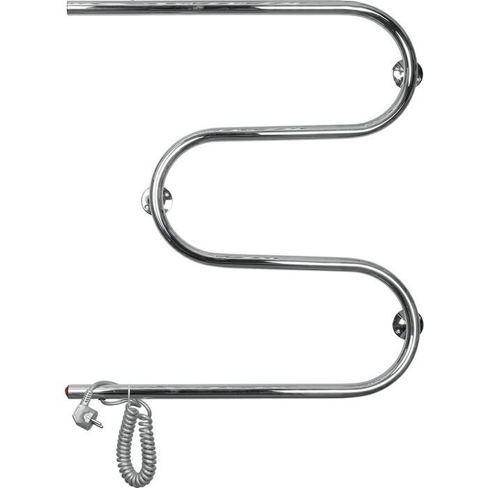 Полотенцесушитель электрический Domoterm DMT 107-25 60x50 EK L подключение слева, витой провод полотенцесушитель электрический domoterm полка dmt t4 38x53 ek l подключение слева витой провод