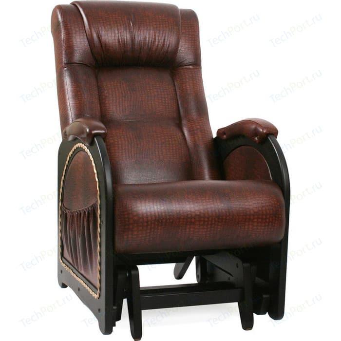 Кресло-качалка глайдер Мебель Импэкс МИ Модель 48 венге с лозой, обивка Antik crocodile