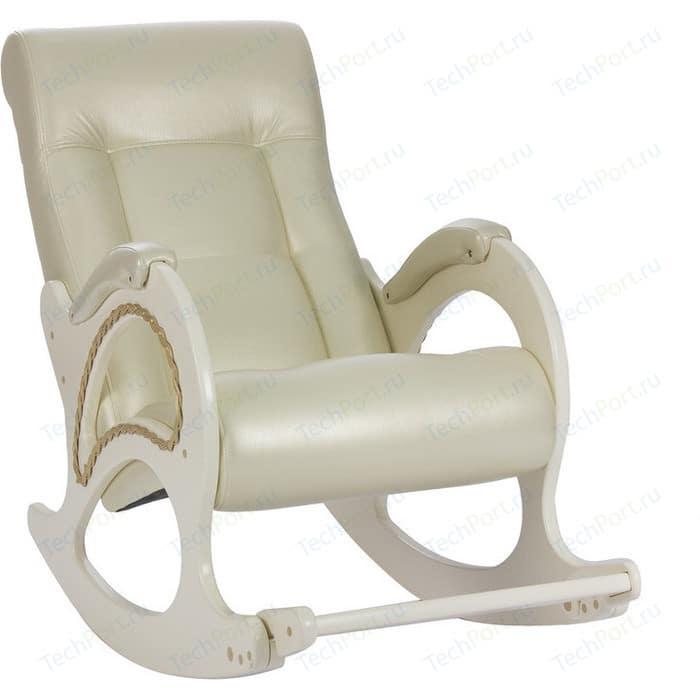 Кресло-качалка Мебель Импэкс МИ Модель 44 дуб шампань, обивка Oregon perlamutr 106