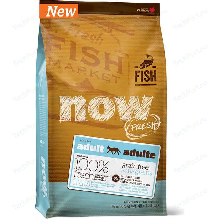 Сухой корм NOW FRESH Cat Adult Grain Free Trout,Salmon & Herring беззерновой с форелью,лососем и сельдью для кошек чувствительным ЖКТ 3,63кг (9236)