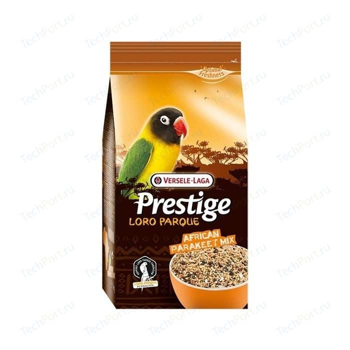 Корм VERSELE-LAGA Prestige Premium Loro Parque African Parakeet Mix для средних африканских попугаев 20кг