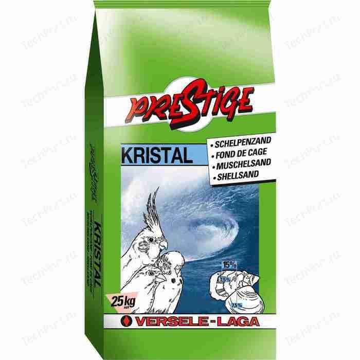 Песок VERSELE-LAGA Prestige Kristal ShellSand с ракушечником белый для птиц 25кг