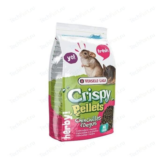 Корм VERSELE-LAGA Crispy Pellets Chinchillas & Degus гранулированный для шиншилл и дегу 25кг корм для крыс и мышей versele laga crispy pellets rats