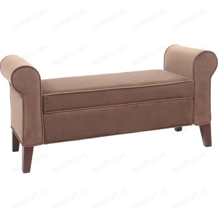 Банкетка Мебельстория Октавия коричневый банкетка мебельстория октавия велюр бирюзовый
