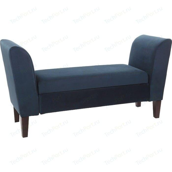 Банкетка Мебельстория Авола синий банкетка мебельстория октавия велюр бирюзовый