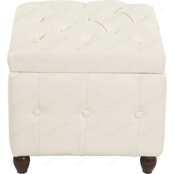 Пуф Мебельстория Брага-1 белый