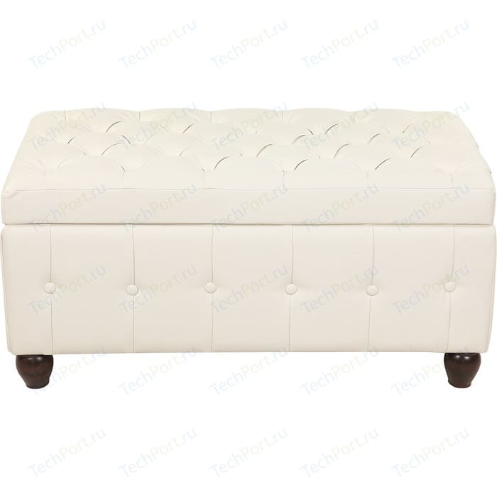 Пуф Мебельстория Брага-3 белый