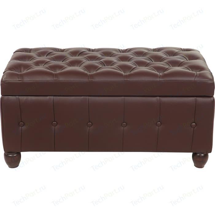 Пуф Мебельстория Брага-3 коричневый