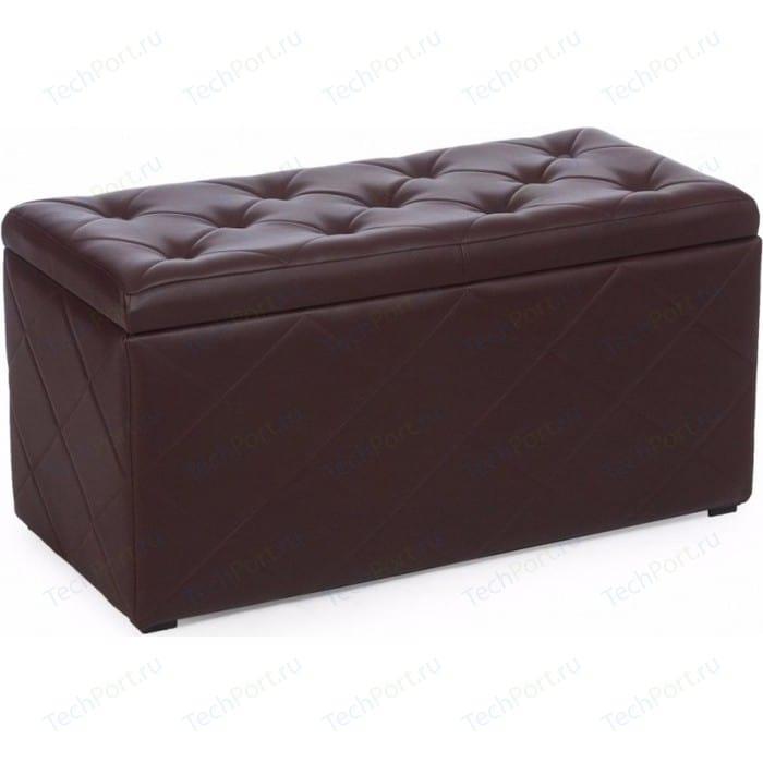 Пуф Мебельстория Ромби-3 коричневый
