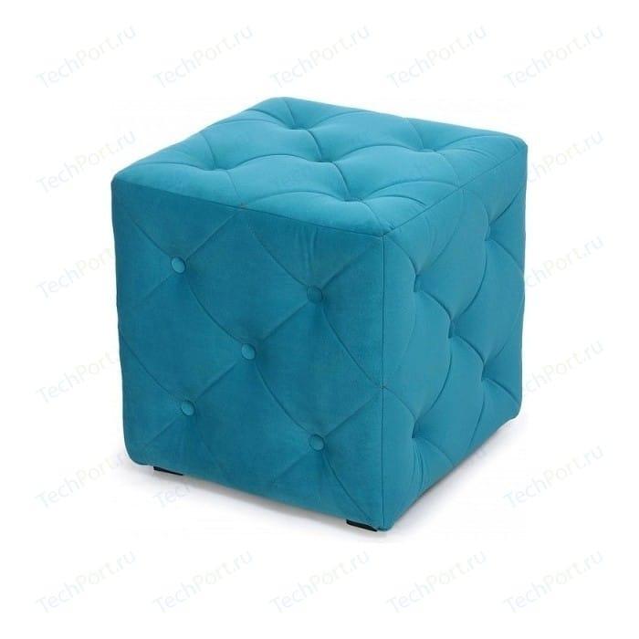 Пуф Мебельстория Ромби-1Т велюр бирюзовый банкетка мебельстория октавия велюр бирюзовый