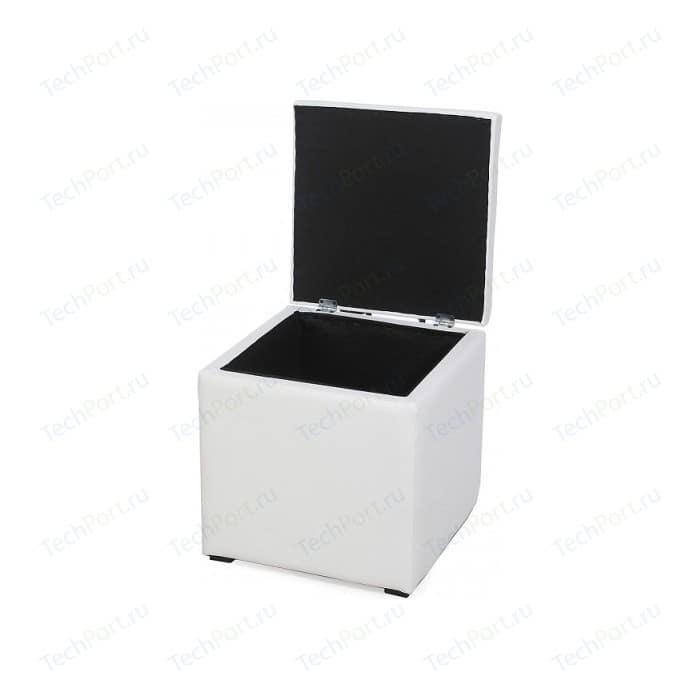Пуф Мебельстория Тони-2 белый пуф euroson тони 3 коричневый