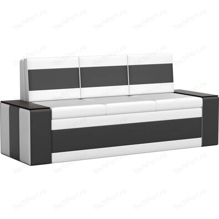 Кухонный диван Мебелико Лина эко-кожа (бело/черный)