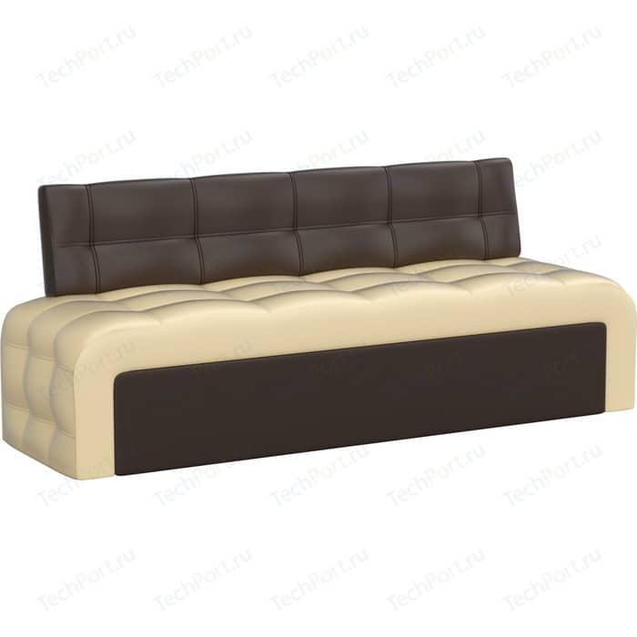 Фото - Кухонный диван АртМебель Люксор эко-кожа (бежево/коричневый) кухонный диван артмебель классик эко кожа бежево коричневый