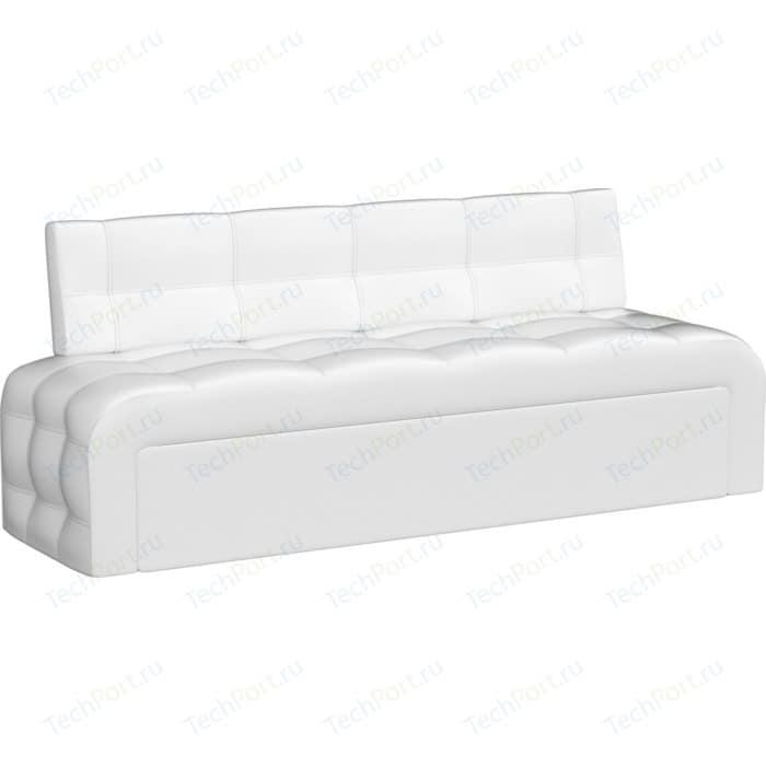 Кухонный диван АртМебель Люксор эко-кожа (белый)