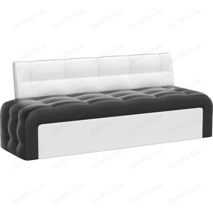 Кухонный диван АртМебель Люксор эко-кожа (черно/белый)