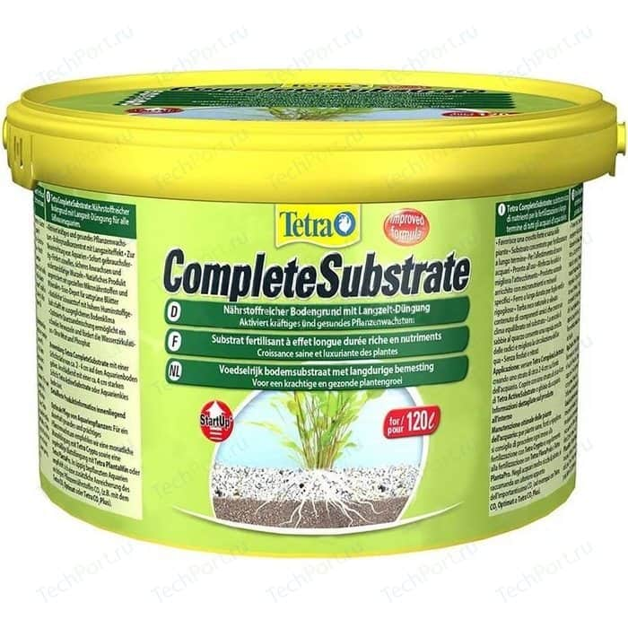 Грунт Tetra CompleteSubstrate Nutrient Rich Substrate with Long-Term Fertilisation питательный для аквариумных растений 5кг (120л)
