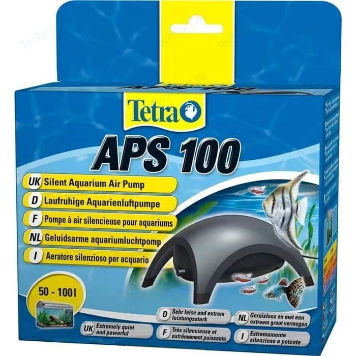 Компрессор Tetra APS 100 Silent Aquarium Air Pomp для аквариумов 50-100л