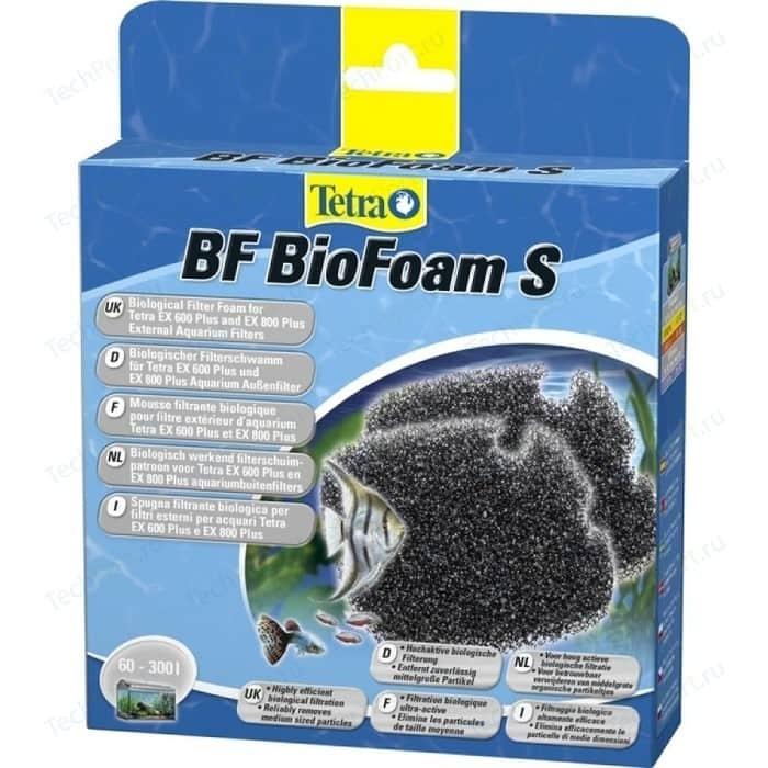Губка Tetra BF BioFoam S Biological Filter Foam for EX 400-800 био-фильтрации для внешних фильтров 2шт