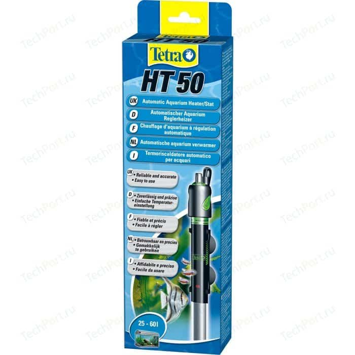 Терморегулятор Tetra HT 50 Automatic Aquarium Heater/Stat 50Вт для аквариумов 25-60л