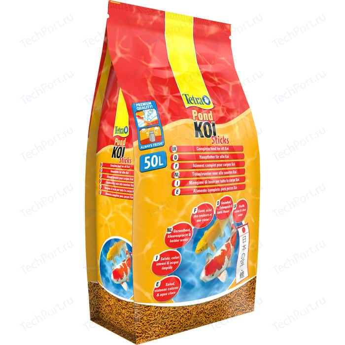 Корм Tetra Pond Koi Sticks Premium Food for All палочки для кои 50л