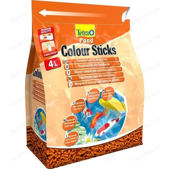 Корм Tetra Pond Colour Sticks Complete Food for All Fish палочки усиление окраски для прудовых рыб 4л