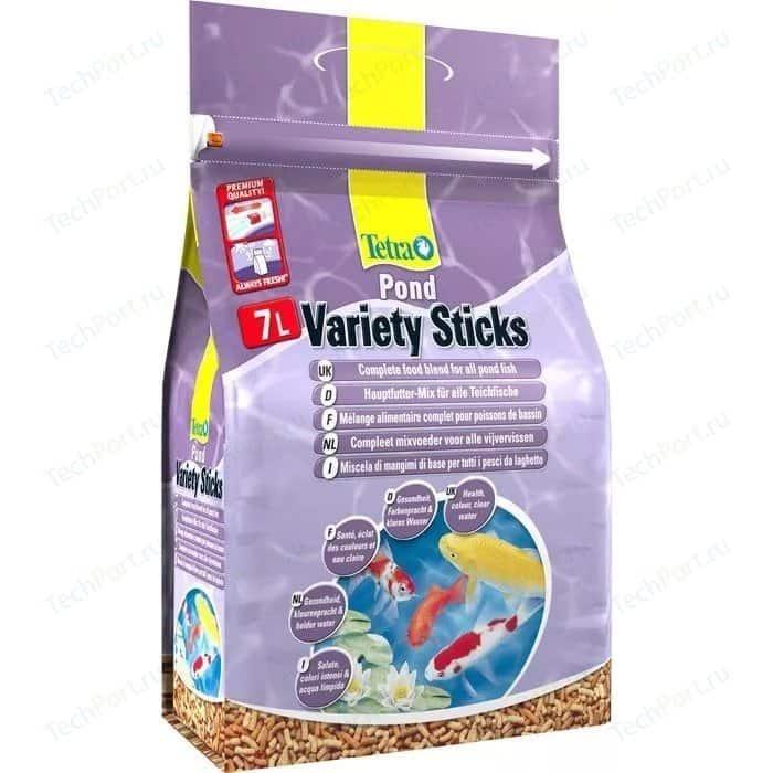 Корм Tetra Pond Variety Sticks Complete Food Blend for All Fish смесь трёх видов палочек для прудовых рыб 7л