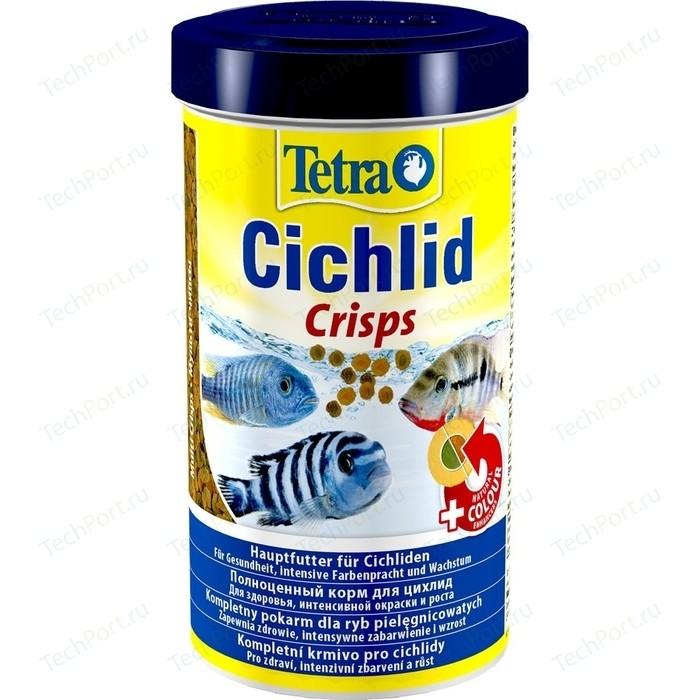 Корм Tetra Cichlid Crisps Premium Food for All Cichlids чипсы для всех видов цихлид 500мл
