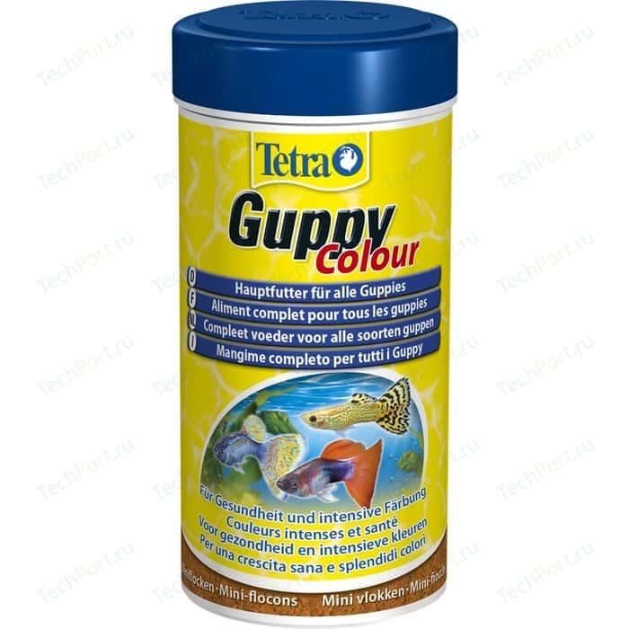 Корм Tetra Guppy Colour Mini Flakes Complete Food for All мини-хлопья для улучшения окраса гуппи 250мл