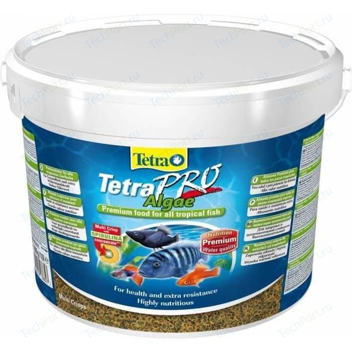 Корм Tetra TetraPro Algae Crisps Premium Food for All Tropical Fish чипсы со спирулиной для всех видов тропических рыб 10л
