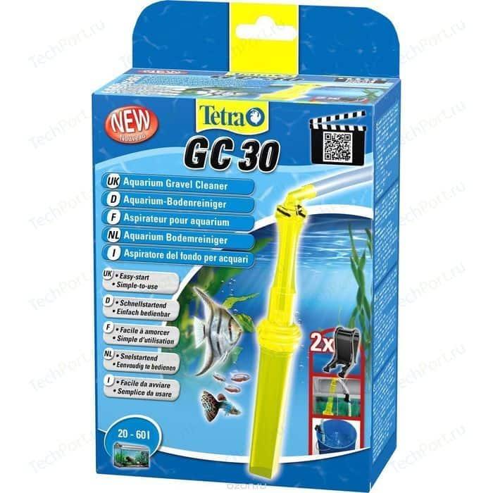 Грунтоочиститель Tetra GC 30 Aquarium Gravel Cleaner для аквариумов 20-60л терморегулятор tetra ht 50 automatic aquarium heater stat 50вт для аквариумов 25 60л