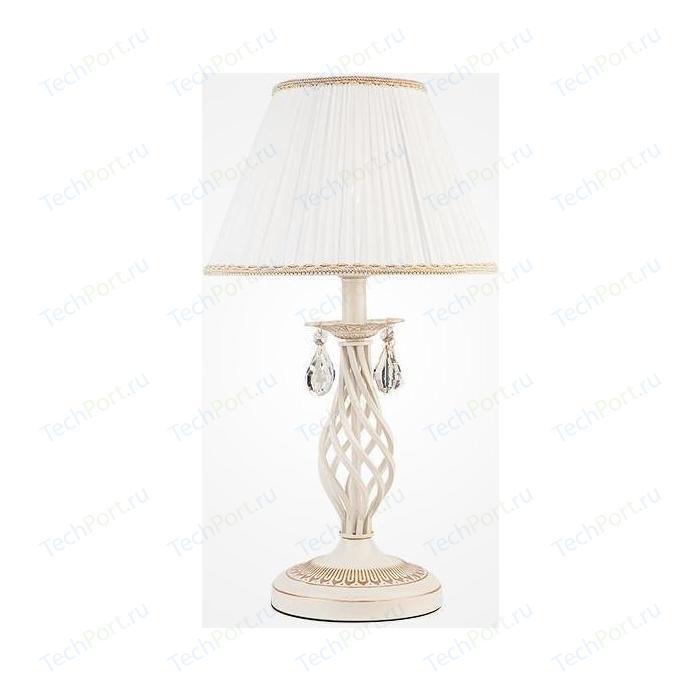 Настольная лампа Eurosvet 10054/1 белый с золотом/прозрачный хрусталь Strotskis настольная лампа eurosvet 01002 1 белый с золотом