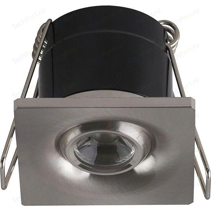 Встраиваемый светодиодный светильник Horoz 1W 4200К матовый хром 016-038-0001