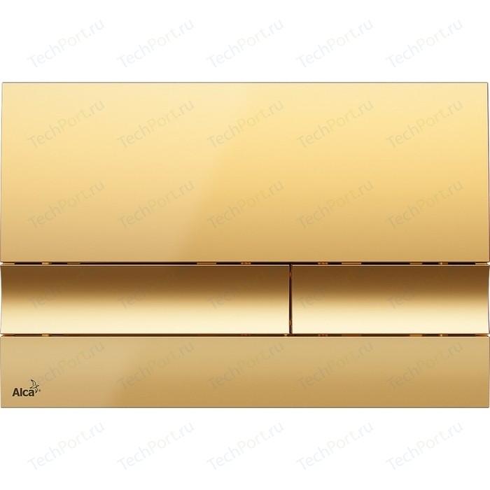 Кнопка смыва AlcaPlast золотая (M1725)