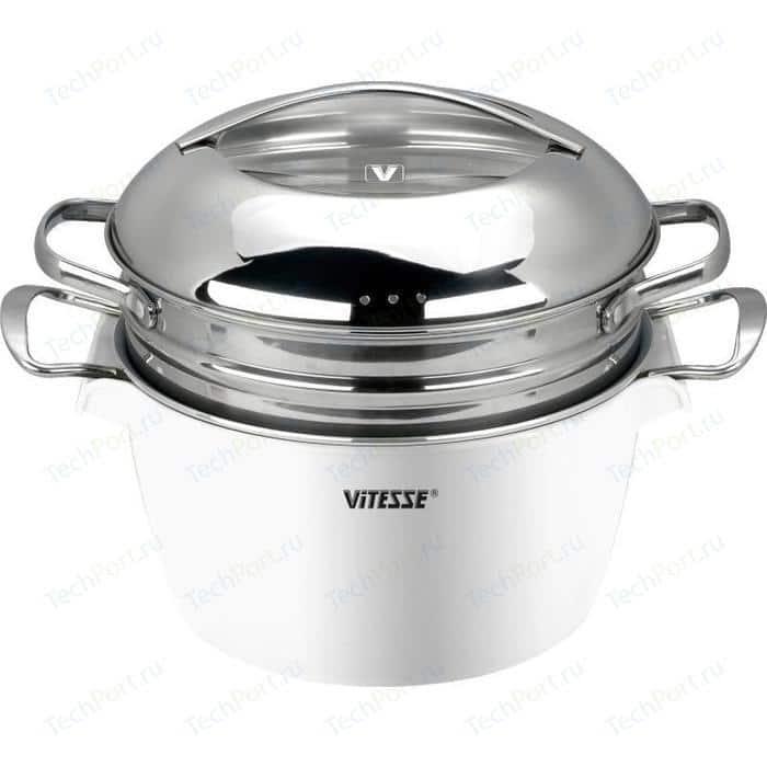 Кастрюля 24 см / 4.5л Vitesse (VS-2299 WHT)