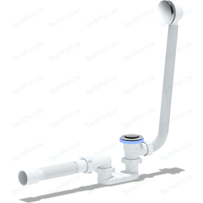 Слив-перелив для ванны АНИ пласт полуавтомат с гофрой 40/50 (EC055)