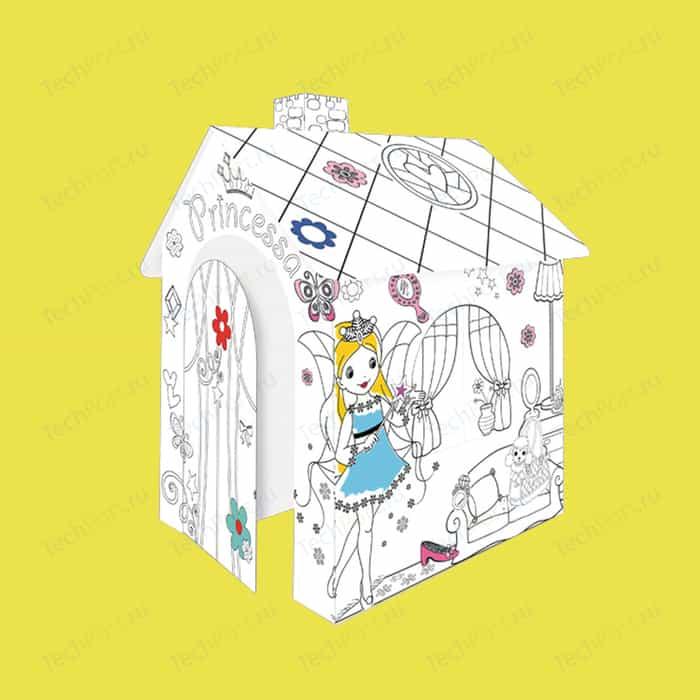 Mochtoys Картонный домик раскраска Принцесса