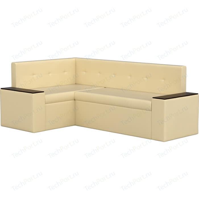 цена Кухонный угловой диван Мебелико Остин эко-кожа бежевый левый угол онлайн в 2017 году