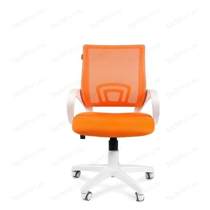 Офисное кресло Chairman 696 белый пластик TW-16/TW-66 оранжевый