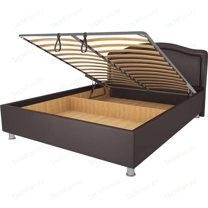 Кровать OrthoSleep Арно lite механизм и ящик Сонтекс Умбер 120х200 кровать orthosleep арно lite жесткое основание сонтекс умбер 120х200