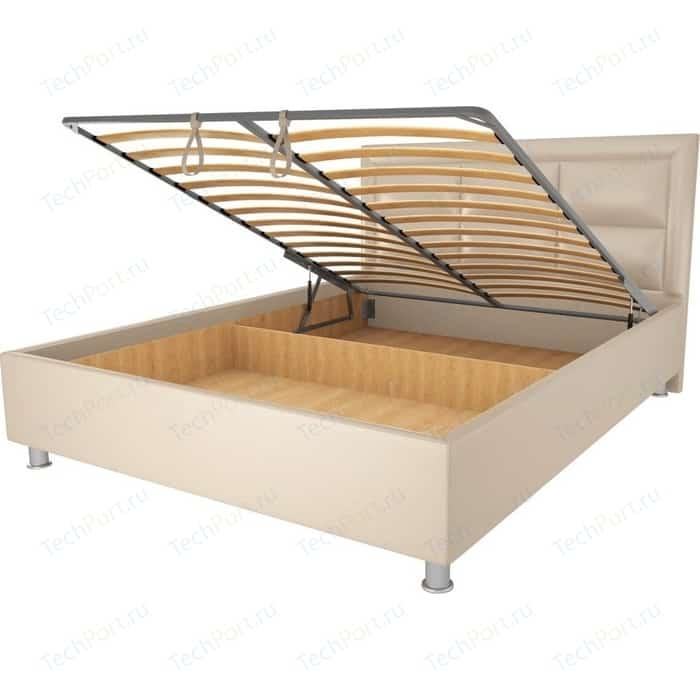 Кровать OrthoSleep Сполето lite механизм и ящик Сонтекс Беж 160х200 кровать orthosleep сполето lite ортопед основание сонтекс беж 160х200