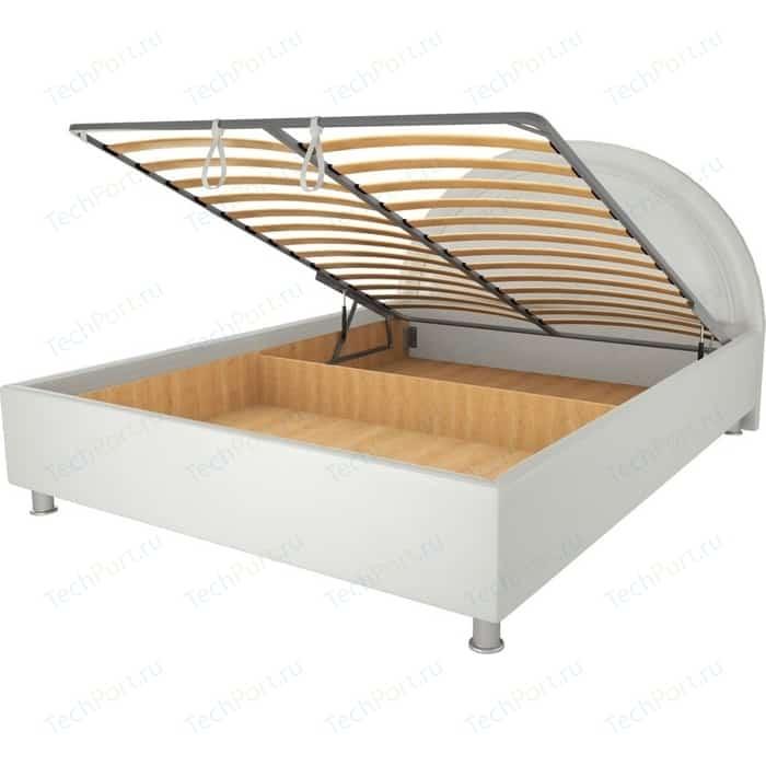 Кровать OrthoSleep Градо lite механизм и ящик Сонтекс Милк 160х200 кровать orthosleep градо lite жесткое основание сонтекс милк 160х200
