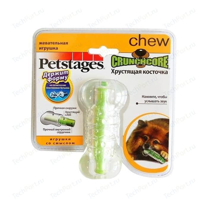Игрушка Petstages Crunchcore Bone хрустящая косточка резиновая 10см для собак