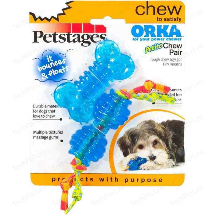 Игрушка Petstages Orka Petit Chew Pair косточка + гантеля 7см для собак мелких пород