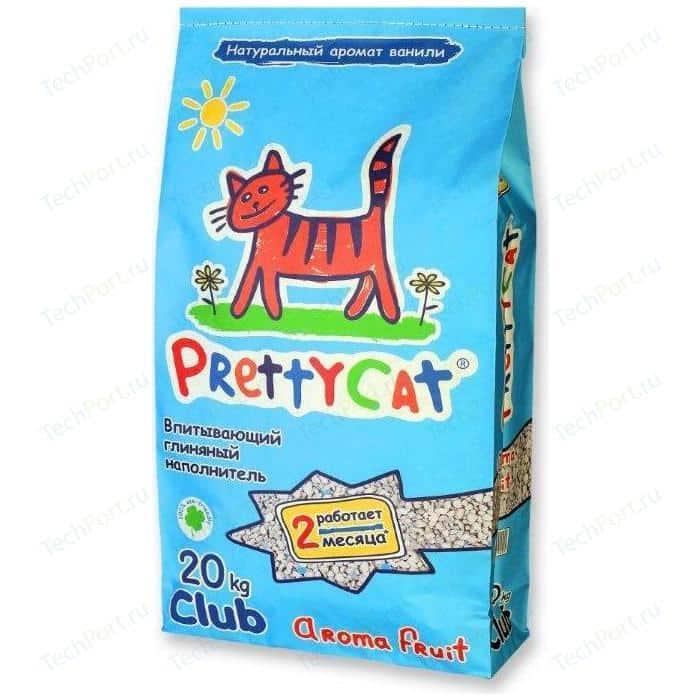 Наполнитель PrettyCat Aroma Fruit впитывающий с део-кристаллами ароматом ванили для кошек 20кг Club