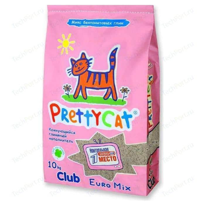 Наполнитель PrettyCat Euro Mix комкующийся для кошек 10кг Club