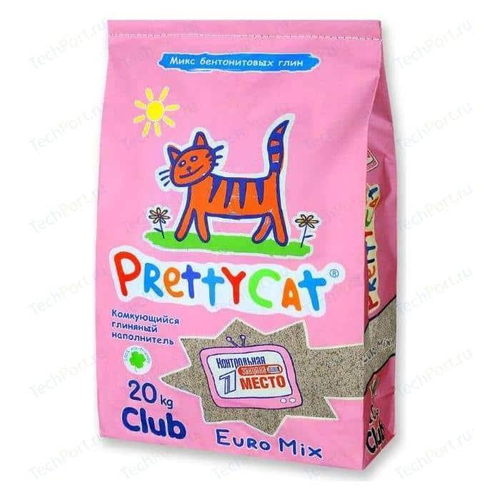 Наполнитель PrettyCat Euro Mix комкующийся для кошек 20 кг Club