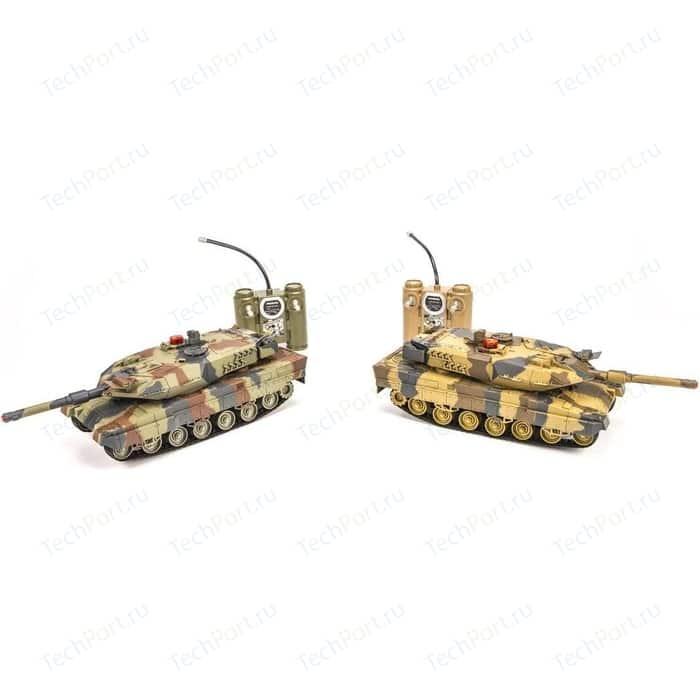 Радиоуправляемый танковый бой Huan Qi Abrams vs Abrams масштаб 1:24 27Mhz vs 40Mhz